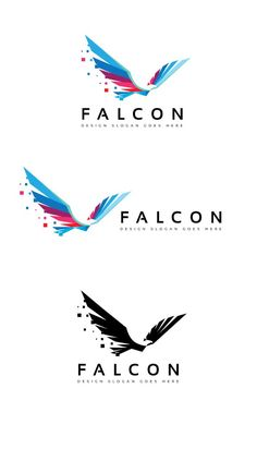 Falcon Digital Logo by goodigital on @creativemarket