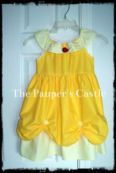 Girls/Child's/Toddler Casual Cotton Pull Over Disney Belle / Beauty and The Beast Princess Dress / Costume