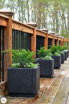Patio Paver Planters - Planting Container Evergreens #readysetgro