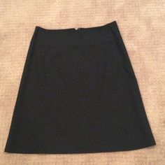 "Banana Republic basic black work skirt Lightweight poly spandex blend. Fully lined. No slit. 24"" length Banana Republic Skirts Midi"