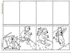 Preschool Worksheets, Winter Sports, Puzzle, Teaching, School, Activities, Reading Comprehension, Winter, Puzzles