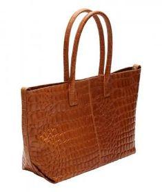 !!!Kurzgrifftasche Liebeskind Kroko braun golden amber waxy