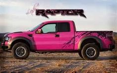 Ford Raptor Pink ☆ Girly Cars for Female Drivers! Love Pink Cars ♥ It's the dream car for every girl ALL THINGS PINK! Oh yay want that
