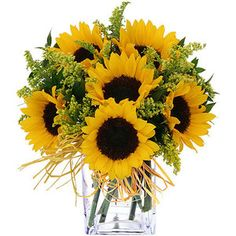 sunflower solidago arrangement