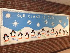 January Bulletin Board - Our Class is Cool I found this idea online and tweaked it a bit.