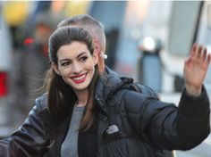 Anne Hathaway in The North Face.
