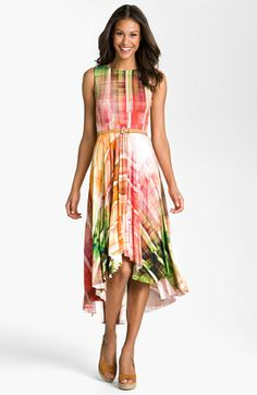 Suzi Chin for Maggy Boutique Print High/Low Hemline Dress available at Nordstrom