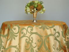 Organza Gold Tablecloth   365 Days of Tablecloths   A beautiful tablecloth for everyday of the ...