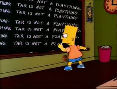 The Simpsons  Season 02 Episode 02. What Bart was writing on the board every week was the thing I looked forward to most!!