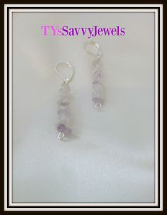 Amethyst Crystal Quartz Semi Precious Gemstone by TYsSavvyJewels