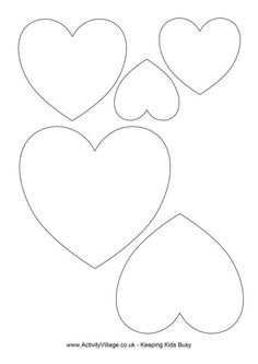 Print our useful heart template and choose the size you require. Felt Patterns, Applique Patterns, Stuffed Toys Patterns, Applique Designs, Applique Templates, Felt Crafts, Diy And Crafts, Crafts For Kids, Paper Crafts