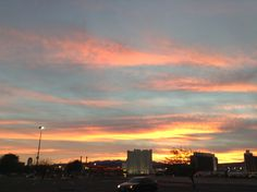 Beautiful sunset in bullhead az