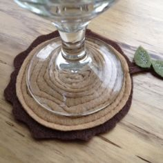 """These """"wood stump"""" coasters add a little """"slice"""" of fun to any drink."""