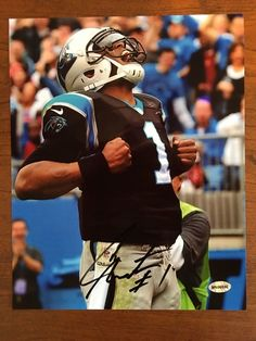 Cam Newton Carolina Panthers Superman Pose Hand Signed Autographed 8x10 Photo