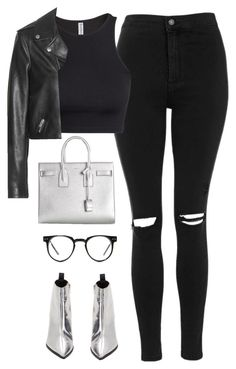 """Başlıksız #1240"" by zeynep-yagmur ❤ liked on Polyvore featuring Acne Studios, Topshop, H&M, Yves Saint Laurent and Spitfire"