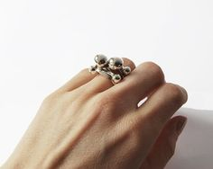 M. GRAPE ring in 925 silver.  Buy online at Mila Silver.