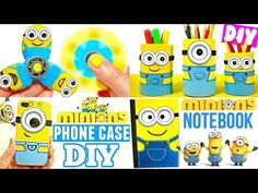 DIY SCHOOL SUPPLIES for Back to School 2017 | Easy & Cute MINIONS CRAFTS - YouTube