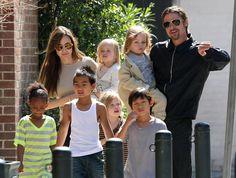 Brad Pitt and Angelina Jolie. Children (Ithink in order of adoption/birth date): Maddox Jolie-Pitt, Zahara Jolie-Pitt, Pax Thien Jolie-Pitt, Vivienne Jolie-Pitt, Knox and Shiloh Jolie-Pitt (twins).