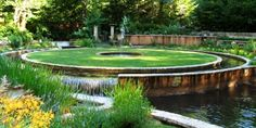 A must-see garden along the Mckenzie River,  about an hour east of Eugene.  This garden features perennial and annual displays, native plants  and a Greek/Roman water garden.
