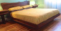 Live edge walnut platform bed. by AppalachianJoinery on Etsy https://www.etsy.com/listing/188690146/live-edge-walnut-platform-bed
