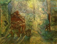 Van Gogh, Evening The Watch (after Millet), 1889