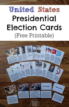United States Presidential Election Cards - Free printable, Montessori-inspired…