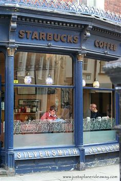 York's Starbucks. We had coffee here !  A simple trip to the basement to use the bathroom was a step back in time. Amazing!