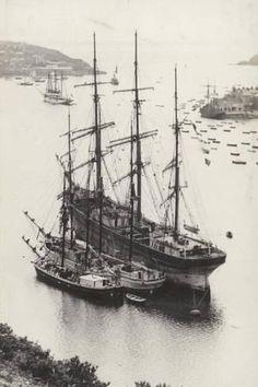 Old Sailing Ships, Ocean Sailing, Honfleur, Ship Drawing, Merchant Navy, Wooden Ship, Boat Plans, Wooden Boats, Tall Ships