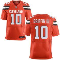 Man Cleveland Browns #10 Robert Griffin III Orange Alternate 2015 NFL Elite…