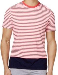 bda679650cf Tommy Hilfiger Men s Stripe Color Blocked T-shirt Size XL