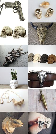 Guns and Skulls and Bones. by Liva Steina on Etsy--Pinned with TreasuryPin.com