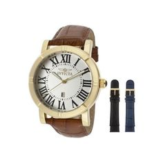 Men's Wrist Watches - Invicta Mens 13971 Specialty GoldTone Stainless Steel Watch with 2 Additional Straps >>> See this great product. (This is an Amazon affiliate link)