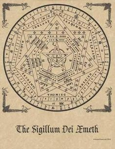 "Enochian Talisman, created by Dr. John Dee in the Elizabethan era. Used in Enochian and other High Ceremonial magickal systems. 8 12"" x 11"""