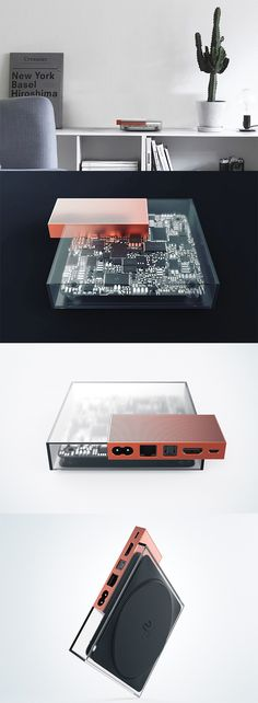 The 'I/O TV set-top box' focuses on visibility in the form of a transparent case that gives users a look into the inner workings of the devicei, its circuitry  is proudly on display for a unique techn