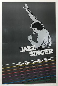 The Jazz Singer Lucie Arnaz, The Jazz Singer, Original Movie Posters, Advertising Poster, West Palm, Vintage Movies, Lettering, The Originals, Artist