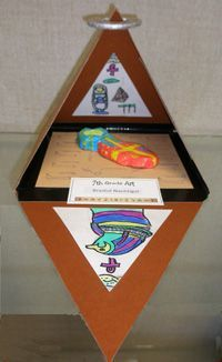 Egyptian artwork, hopi baskets, canopic jars, paintings,middle school egyptian art, middle school art lessons, 6th grade art, pyramids, art lessons, egyptian projects
