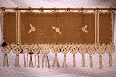 Bandô para janela em juta e crochê www.gostodefazer.com