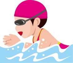 Breaststroke Swimming, Swimming Cartoon, Keep Fit, Sports Art, Pattern Illustration, Summer Parties, Coloring Sheets, Art Reference, Art Projects