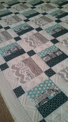 Shirley baby herringbone - quilted by Joy Voltenburg