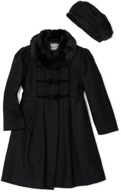 Vintage Little Girl Peacoat with Matching Hat / Vintage Rothschild ...