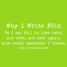 how to fall in love with the characters you write