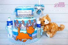 Torta di pannolini Aristogatti! Con 3 prodotti Mustela. 3 piani (70 pannolini Pampers Baby Dry tg.3) www.facebook.com/AuguriDiversi