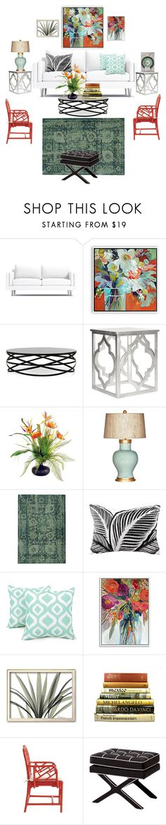 """""""Still Life Living Room"""" by rosalindmarshall ❤ liked on Polyvore featuring interior, interiors, interior design, home, home decor, interior decorating, Safavieh, Designs by Lauren, Barclay Butera and Pantone Universe"""