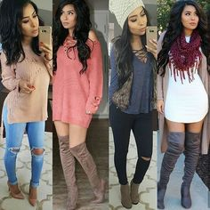Swans Style is the top online fashion store for women. Shop sexy club dresses, jeans, shoes, bodysuits, skirts and more. Cute Fall Outfits, Fall Winter Outfits, Autumn Winter Fashion, Spring Outfits, Casual Outfits, Winter Clothes, Winter Style, Fall Fashion, Cute Fashion