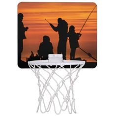 People Fishing at Breakwater Mini Basketball Backboard - photography gifts diy custom unique special