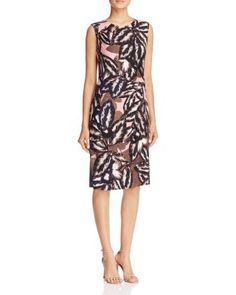 NIC ZOE Aloha Leaf Print Sheath Dress | Bloomingdale's