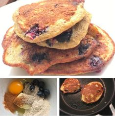 Related Blw Breakfast Ideas, 2 Ingredient Pancakes, Baby Led Weaning, 2 Ingredients, Baby Food Recipes, Blueberry, French Toast, Snacks, Cooking
