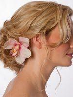 pink cymbidium orchid hair flower