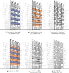 peyman meydani + behzad ayati weave narenjestan building's linear facade - designboom | architecture & design magazine