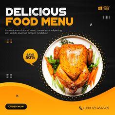 Food Menu Design, Food Poster Design, Poster Design Inspiration, Delivery Food, Android App Design, Graphic Design Brochure, Food Banner, Ads Creative, Biryani